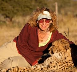 Sy Montgomery and Cheetah