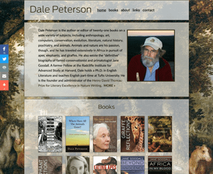 Dale Peterson, Official Biographer of Primatologist Jane Goodall
