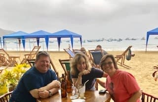 Sy is in Ecuador with Deb and Patrick Joyce